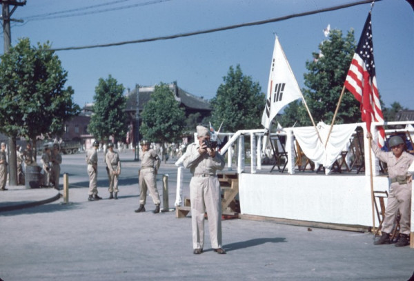 25 Reviewing Stand, Seoul, August 15,1946.jpg