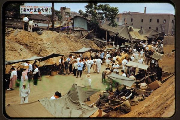 Original Slide, Market Scene in Seoul Korea 1950s, B.jpg